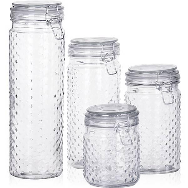 27022 Набор банок 4пр стекло 1,9+1,4+1+0,6л MAYER&BOCH