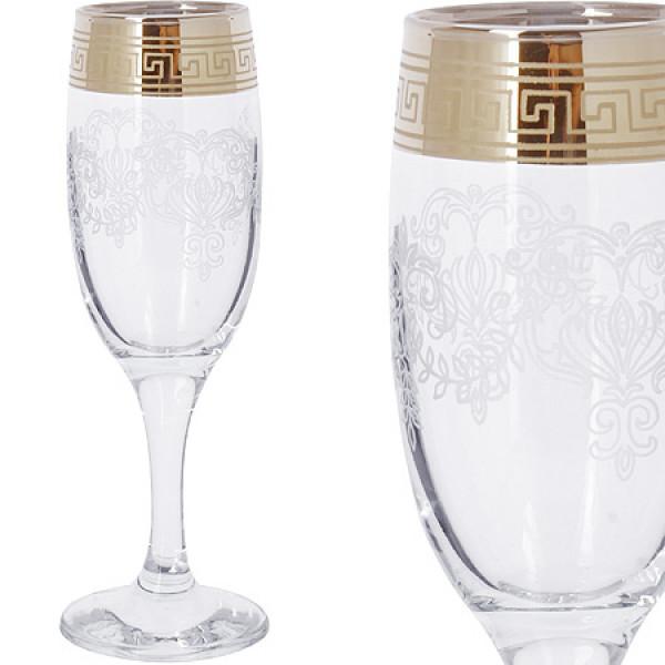 MS419-02 Набор 6-ти бокалов д/шампанского 190м(х4)