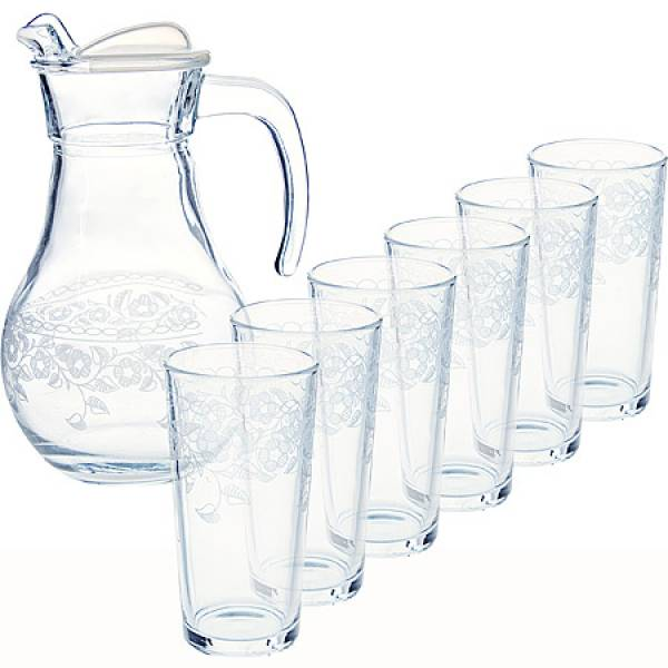 MS43944+1256/32 Набор 7 пр. кувшин + стакан