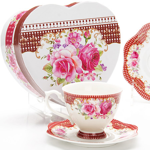 26628 Чайная пара 2пр (чашка180мл+блюдце) LR (х30)