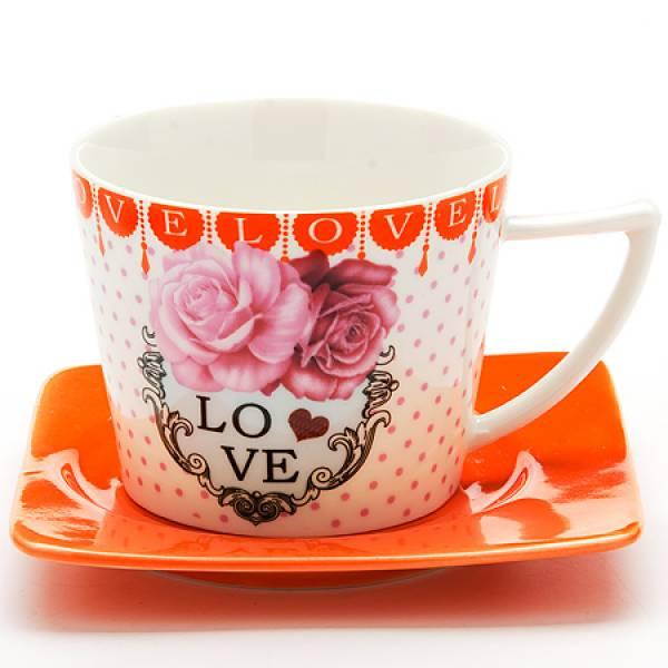 24710 Чайный пара 2пр 230мл I LOVE YOU LR (х24)
