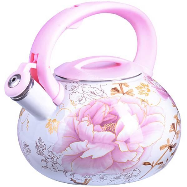 26485 Чайник Эмаль 3л с/кр Цветы MAYER&BOCH