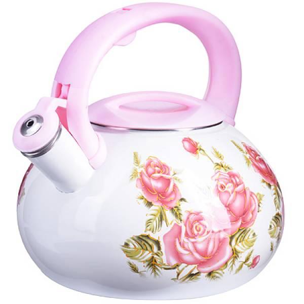 26486 Чайник Эмаль 3л с/кр Цветы MAYER&BOCH