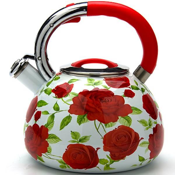 23852 Чайник 3,5л со свистком ЭМАЛЬ MAYER&BOCH