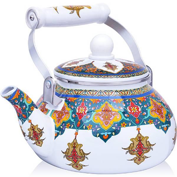 27980 Чайник Эмаль 2,5 л с/кр Узор MAYER&BOCH