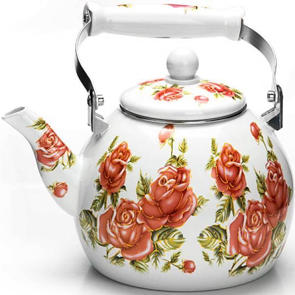 26496 Чайник Эмаль 3л с/кр Цветы MAYER&BOCH