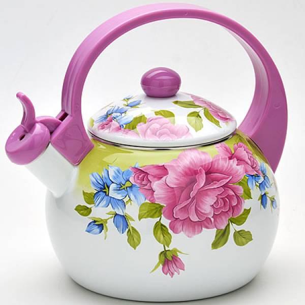 22502 Чайник 2,2л со свистком ЭМАЛЬ/КОРЕЯ MAYER&BOCH