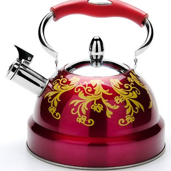 27545-2 Чайник 2,6л с/кр с свистком КРАСНЫЙ MB (х12)