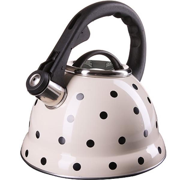 24976 Чайник метал. 2,8л тяжелый БЕЛЫЙ MB(х12)