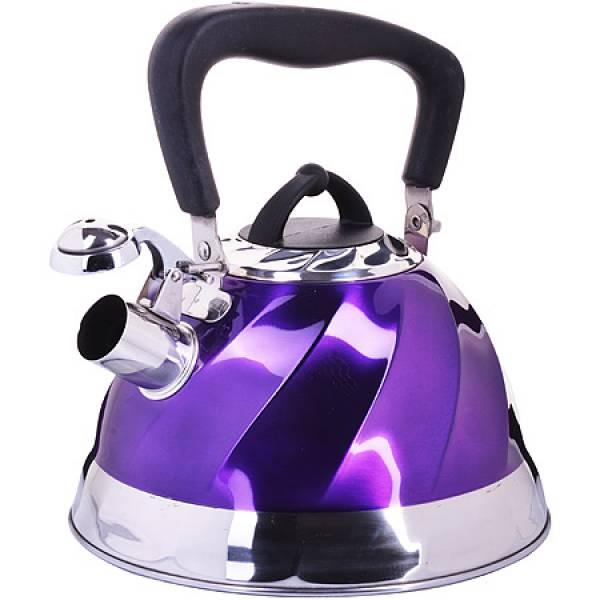 23785 Чайник мет 3л со свистком фиолет MAYER&BOCH