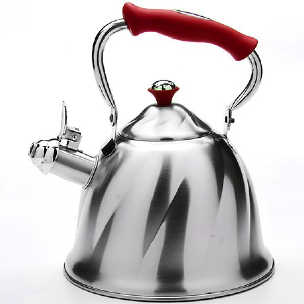 23776 Чайник мет 3л со свист руч/красная МВ(х12)