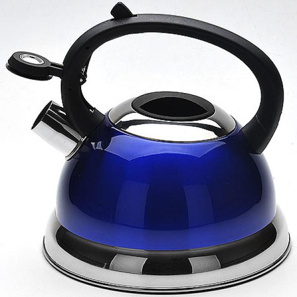 22673-3 Чайник мет,СИНИЙ 2,3л со свистком МВ (х12)