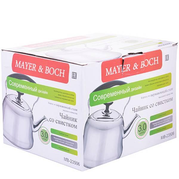 23506 Чайник литой 3л со свистком MAYER&BOCH