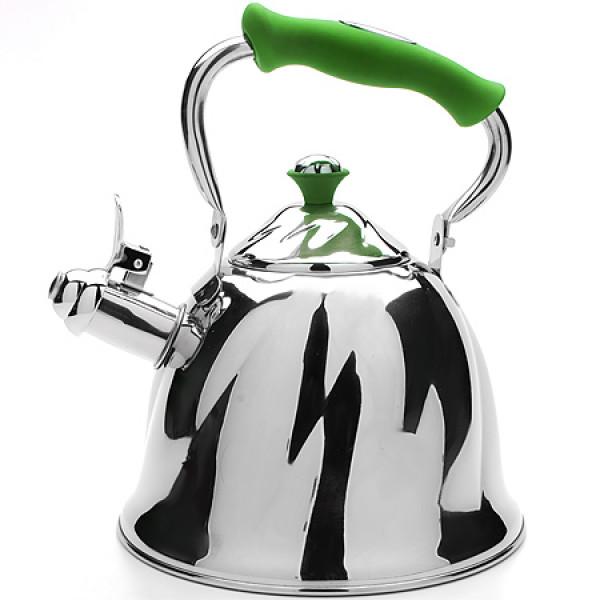 23778 Чайник мет 3л со свист руч/зеленая МВ(х12)