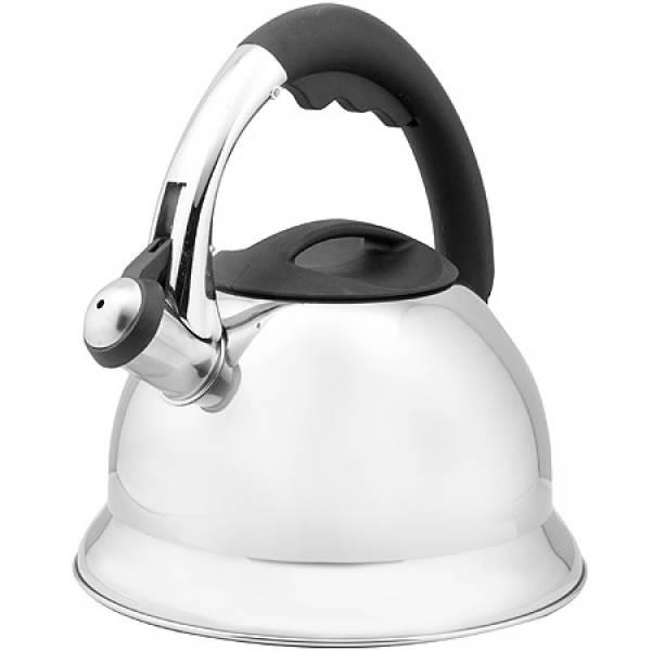 23208 Чайник мет со свист. 3л руч/черная МВ