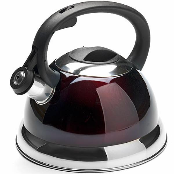 22673-2 Чайник мет,КОРИЧНЕВЫЙ 2,3 л.свистокМВ(х12)