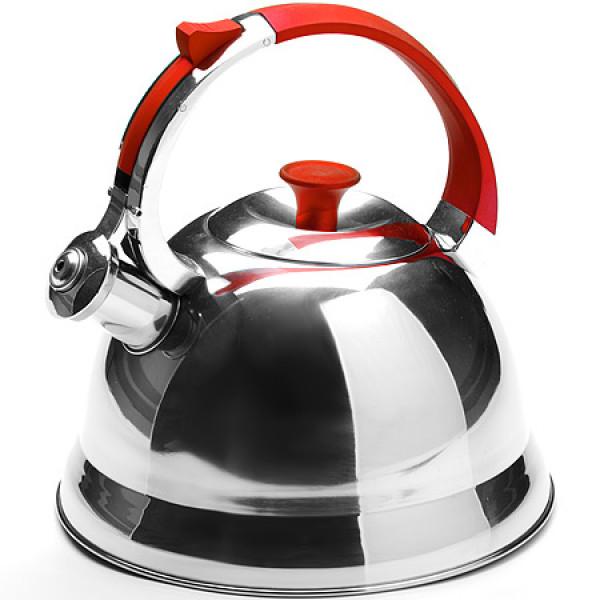 23168-1 Чайник мет.КРАСНАЯ руч(2,7л)тяжел,МВ(х12)