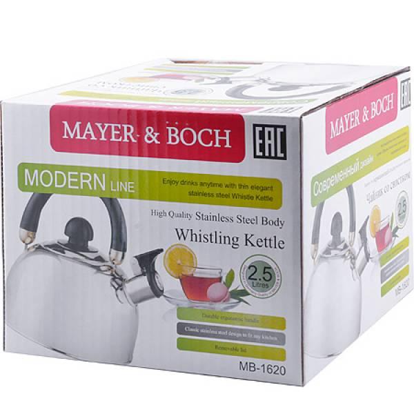 1620 Чайник MAYER&BOCH(2,5л) черная/дв/р