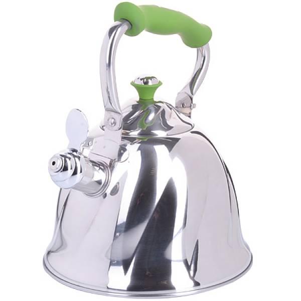 23778 Чайник мет 3л со свист руч/зеленая МВ