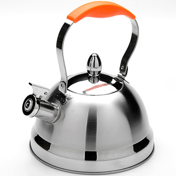 24173 Чайник мет 2,3л.руч/мет/силик оранж MB(х12)