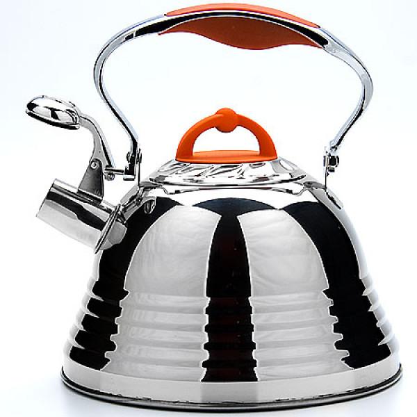 22786 Чайник мет 3л ручка оранжевая МВ (х12)