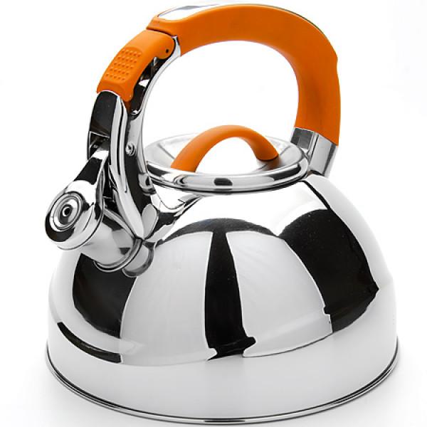 23586 Чайник мет 2,7л со свистком оранжев МВ(х12)