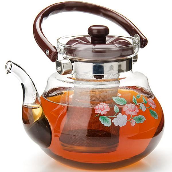 20781 Заварочный чайник 1,5 л нерж+стекло MB (х12)