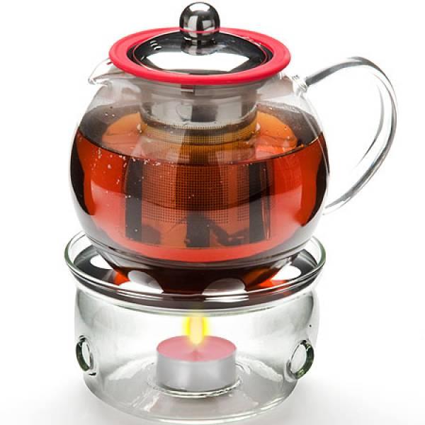 25675 Чайник стекло 800мл+ подогрев,сито МВ (х12)