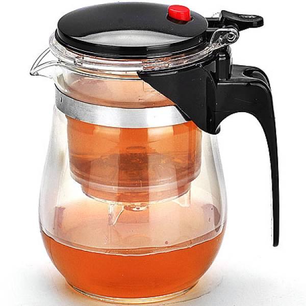 4025 Заварочный чайник500мл стекл.MB дав/клап(х24)