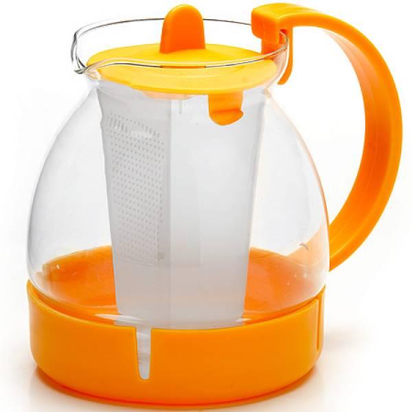 26171-2 Заварочный чайник ЖЕЛТЫЙ стекло 1,25л ситоMB