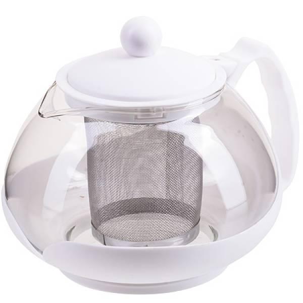 28827-2 Заварочный чайник 750мл нерж/сито БЕЛЫЙ MAYER&BOCH