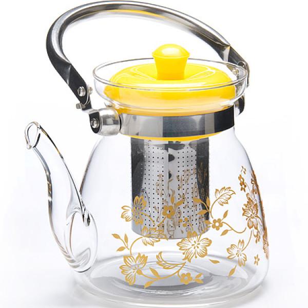 26966 Зав/чайник 1,2л стекло с/кр мет/сито MB(х24)