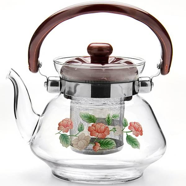 2589 Чайник заварочный MAYER&BOCH 0,8л стекл/мет/