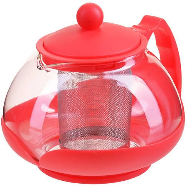 28827-1 Заварочный чайник 750мл нерж/сито КРАСНЫЙ MAYER&BOCH