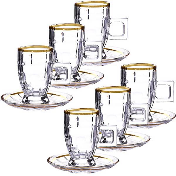 27649 Чайный набор стекло 12пр 100мл LORAINE