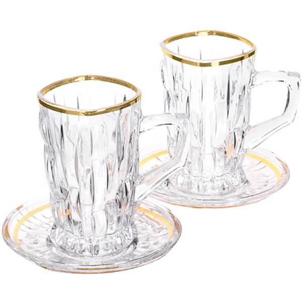 27648 Чайный набор стекло 12пр 100мл LR (х6)