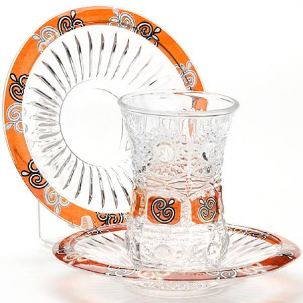 24680 Набор стаканов + блюдца 12пр 190 мл LORAINE
