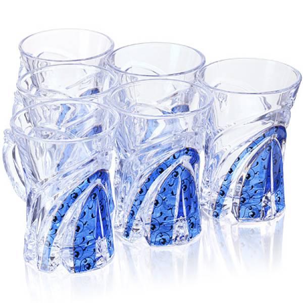 3306 Набор д/чая стекляный 6пр LORAINE гол/зол(х6)
