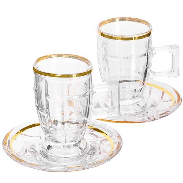 27649 Чайный набор стекло 12пр 100мл LR (х6)
