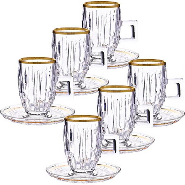 27647 Чайный набор стекло 12пр 100мл LORAINE