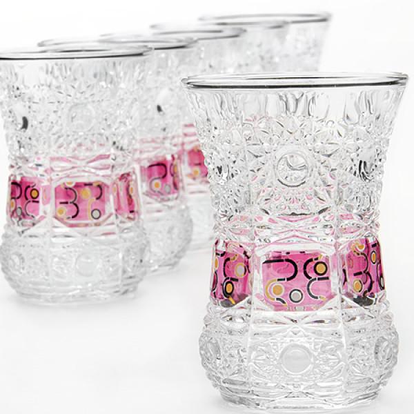 24675 Набор стаканов 6пр 130мл в под/упак LR (х6)