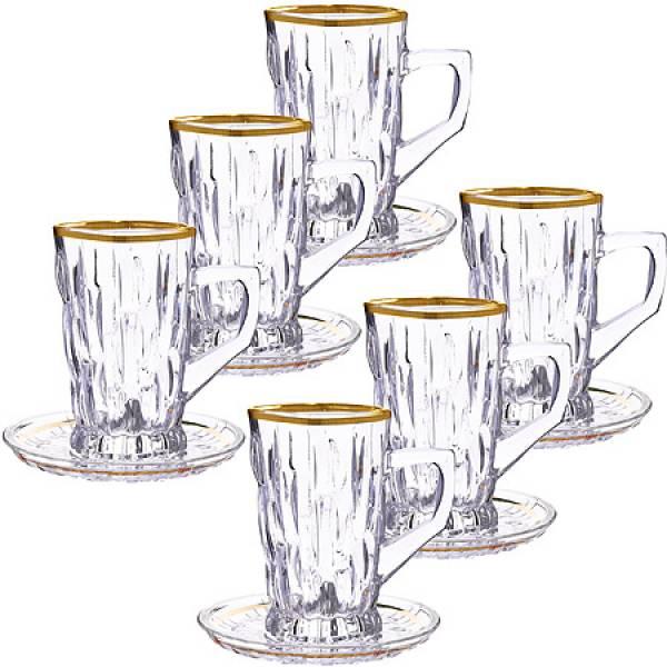 27648 Чайный набор стекло 12пр 100мл LORAINE