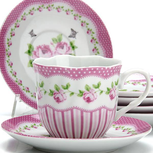 25916 Чайный сервиз 12пр 220мл ЦВЕТЫ LORAINE