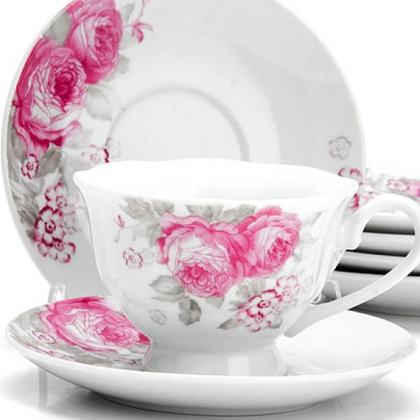 25920 Чайный сервиз 12пр 150мл ЦВЕТЫ LORAINE
