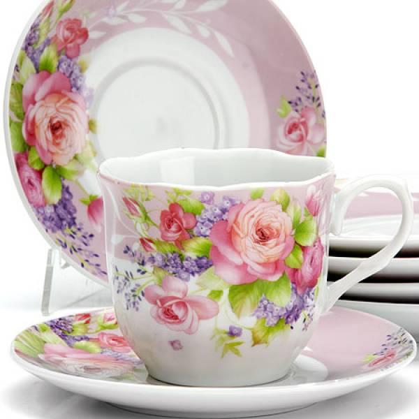25910 Чайный сервиз 12пр 220 мл ЦВЕТЫ LORAINE