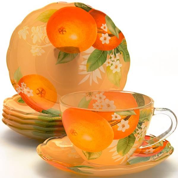 24118 Чайный набор стекло 12пр (200мл) LORAINE