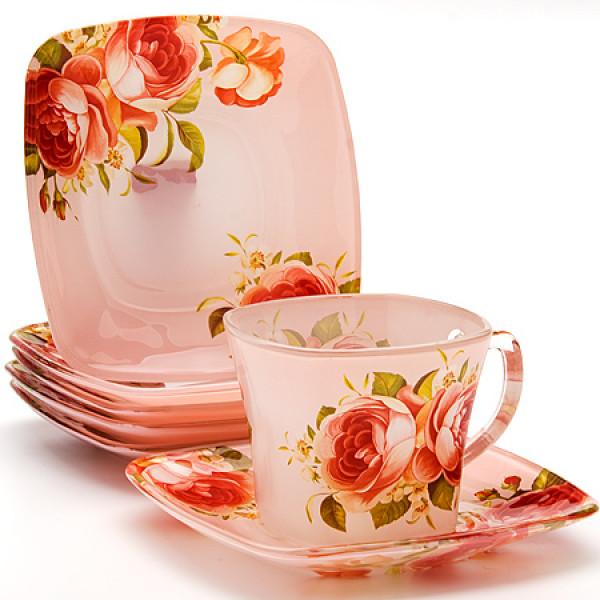 24126 Чайный набор стекло 12пр (200мл) LR (х8)