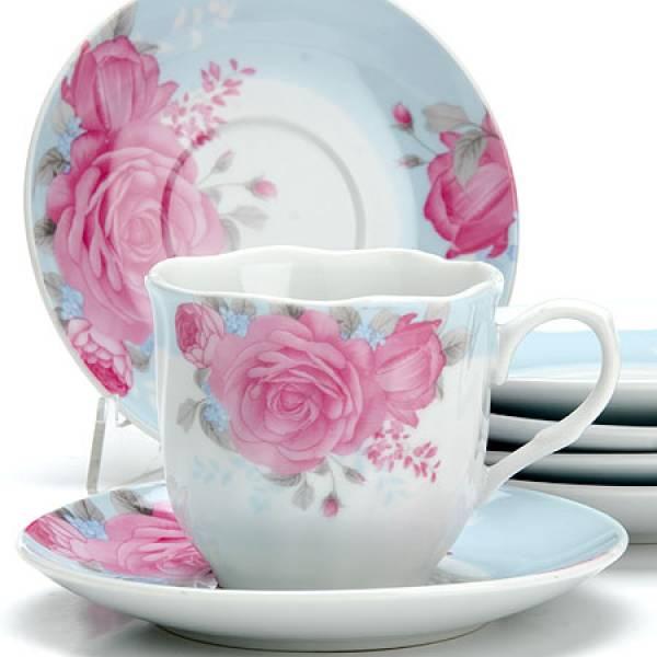 25913 Чайный сервиз 12пр 220мл ЦВЕТЫ LORAINE