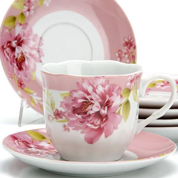 25915 Чайный сервиз 12пр 220мл ЦВЕТЫ LORAINE