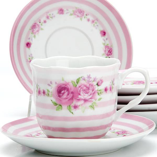 25911 Чайный сервиз 12пр 220мл ЦВЕТЫ LR (х6)